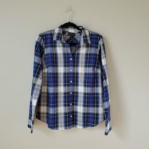 J. CREW | NWT Blue Perfect Button Down Shirt | 10